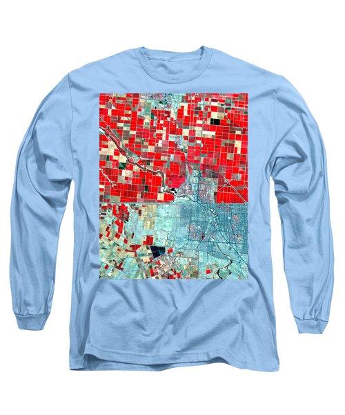 Nasa Image-us-mexico Border-2 Long Sleeve T-Shirt