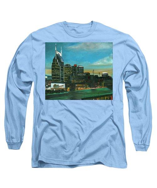 Nashville At Dusk Long Sleeve T-Shirt