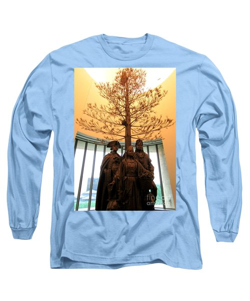 National Museum Of The American Indian 7 Long Sleeve T-Shirt by Randall Weidner