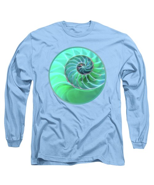 Nautilus Aqua Spiral Long Sleeve T-Shirt