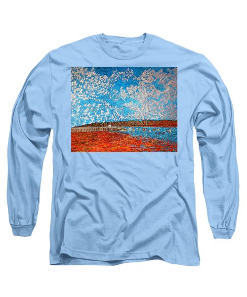 Navy Island And Market Wharf St. Andrews, Nb View From Water Street Long Sleeve T-Shirt
