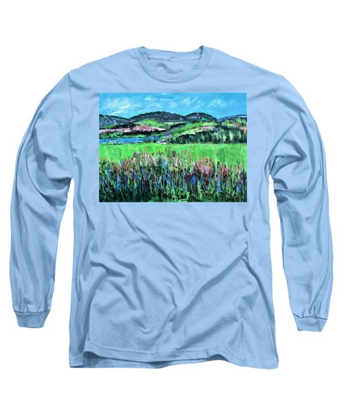 Long Sleeve T-Shirt featuring the painting Near Cooperstown by Betty Pieper