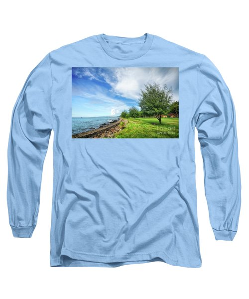 Long Sleeve T-Shirt featuring the photograph Near The Shore by Charuhas Images