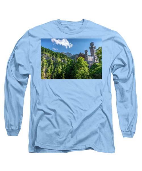 Long Sleeve T-Shirt featuring the photograph Neuschwanstein Castle by David Morefield