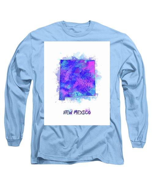 New Mexico Map Watercolor 2 Long Sleeve T-Shirt
