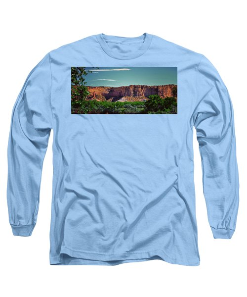 New Mexico Mountains 004 Long Sleeve T-Shirt by George Bostian