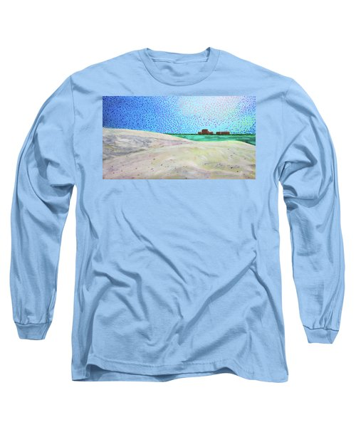 New Smyrna Beach As Seen From A Dune On Ponce Inlet Long Sleeve T-Shirt