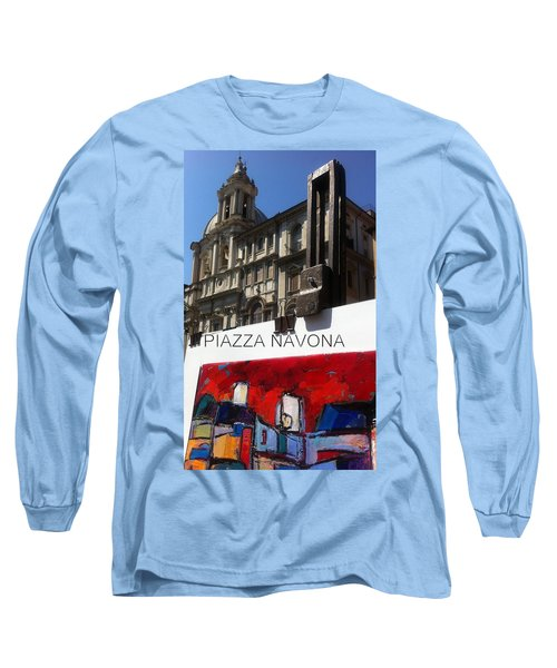 new work Piazza Navona Long Sleeve T-Shirt
