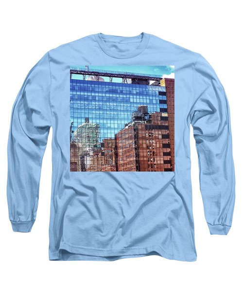 New York City Skyscraper Art 4 Long Sleeve T-Shirt