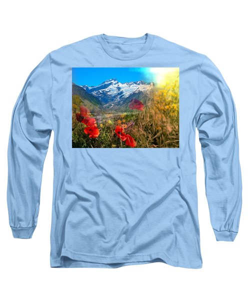New Zealand Southern Alps Montage Long Sleeve T-Shirt