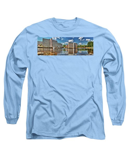 Long Sleeve T-Shirt featuring the photograph Newmarket Mills by Wayne Marshall Chase