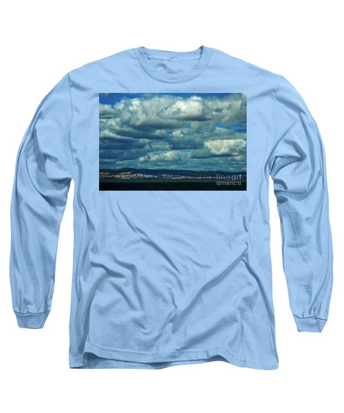 Night Falls On The Tagus River - Portugal Long Sleeve T-Shirt