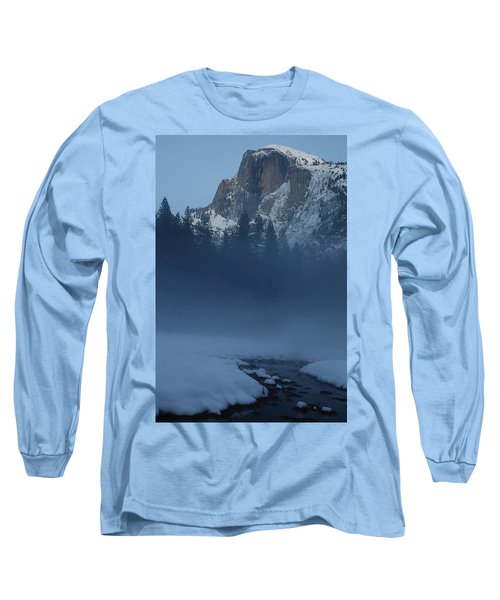 Long Sleeve T-Shirt featuring the photograph Night Falls Upon Half Dome At Yosemite National Park by Jetson Nguyen