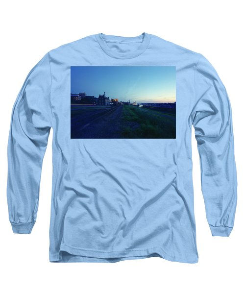 Night Moves On The Mississippi Long Sleeve T-Shirt by Jan W Faul