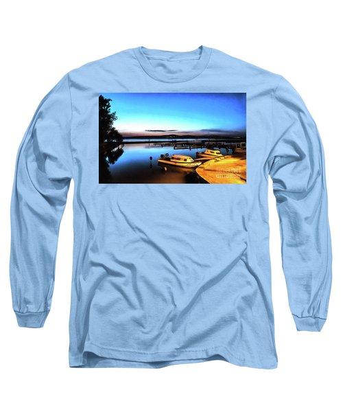 Night Port Painting Long Sleeve T-Shirt