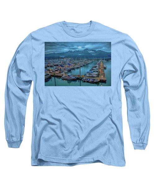 Nightfall On The Harbor Long Sleeve T-Shirt