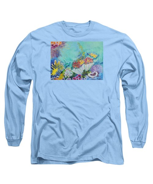 Long Sleeve T-Shirt featuring the painting Ningaloo Reef by Lyn Olsen