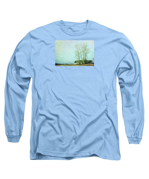 Long Sleeve T-Shirt featuring the photograph Nisqually Barns by Jean OKeeffe Macro Abundance Art