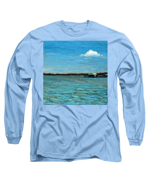 Long Sleeve T-Shirt featuring the painting No Rain Today by Suzanne McKee