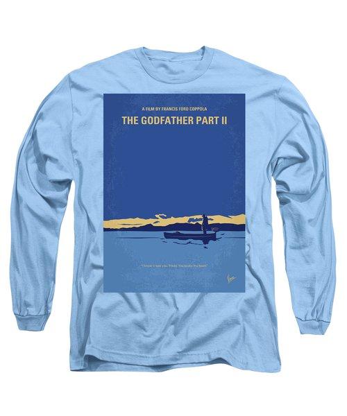 No686-2 My Godfather II Minimal Movie Poster Long Sleeve T-Shirt