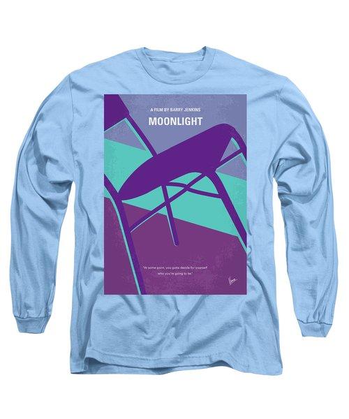 Long Sleeve T-Shirt featuring the digital art No757 My Moonlight Minimal Movie Poster by Chungkong Art