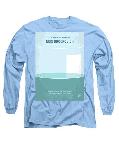 Long Sleeve T-Shirt featuring the digital art No769 My Erin Brockovich Minimal Movie Poster by Chungkong Art