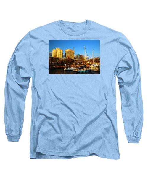 Norfolk From Waterside Long Sleeve T-Shirt by James Kirkikis