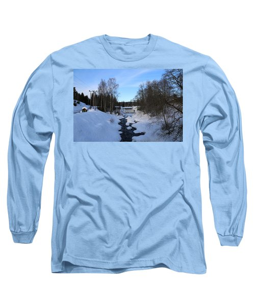 Norwegian Winter Landscape.  Long Sleeve T-Shirt