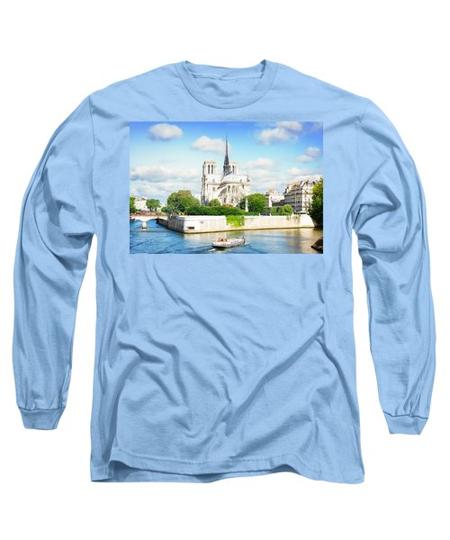 Notre Dame Cathedral, Paris France Long Sleeve T-Shirt by Anastasy Yarmolovich