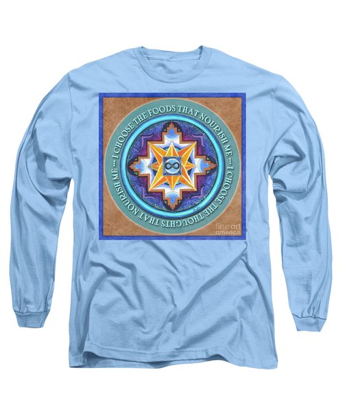 Nourish Mandala Prayer Long Sleeve T-Shirt