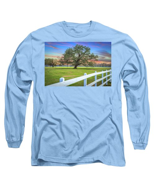 Oak Alley Signature Tree At Sunset Long Sleeve T-Shirt