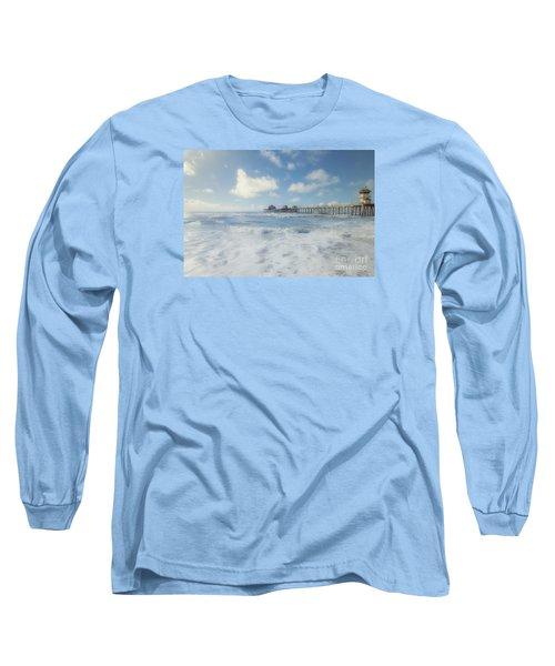 Ocean Blue At The Pier Long Sleeve T-Shirt