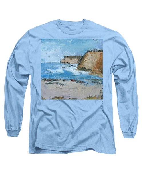 Long Sleeve T-Shirt featuring the painting Ocean Cliffs by Gary Coleman