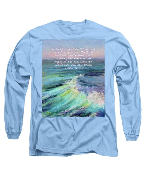 Ocean Symphony With Bible Verse Long Sleeve T-Shirt