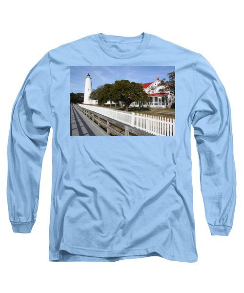 Ocracoke Lighthouse Long Sleeve T-Shirt