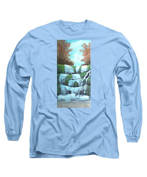 October Falls Long Sleeve T-Shirt by Brenda Bonfield