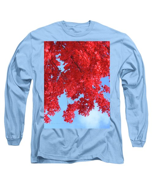 October In The Valley - Fire In The Sky Long Sleeve T-Shirt by Brooks Garten Hauschild