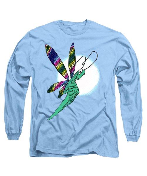 Odd Dragonfly Long Sleeve T-Shirt by Adria Trail