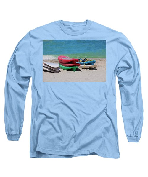 Long Sleeve T-Shirt featuring the photograph Oh The Beach Life by Michiale Schneider