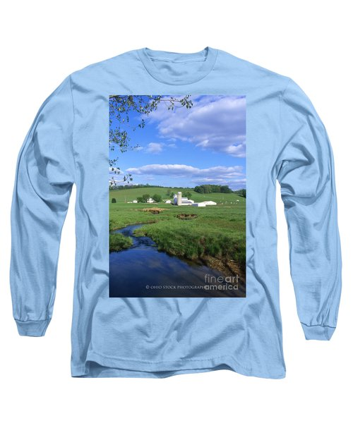 3d203 Ohio Farm Photo Long Sleeve T-Shirt