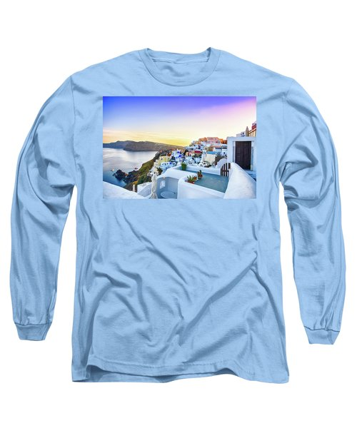 Oia, Santorini - Greece Long Sleeve T-Shirt by Stavros Argyropoulos