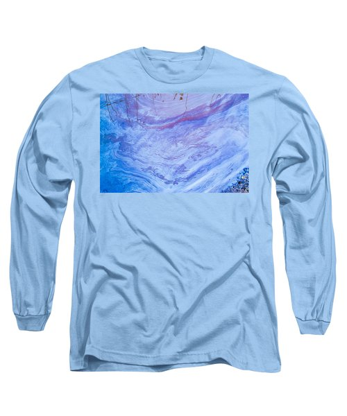 Oil Spill On Water Abstract Long Sleeve T-Shirt