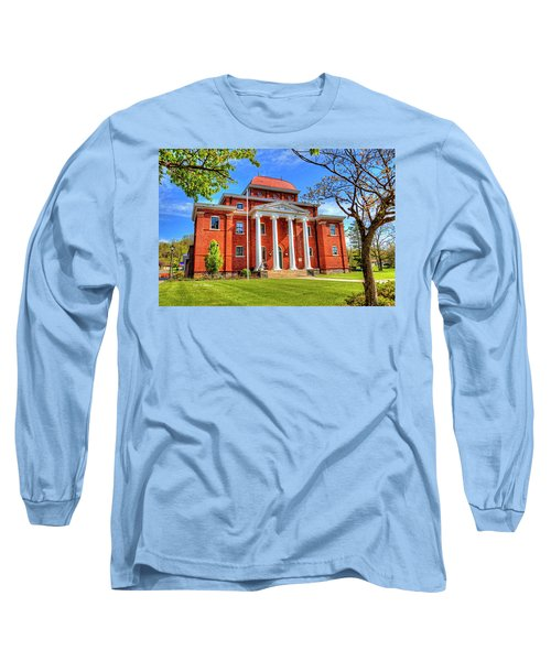 Old Ashe Courthouse Long Sleeve T-Shirt by Dale R Carlson