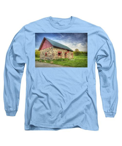 Old Barn At Dusk Long Sleeve T-Shirt