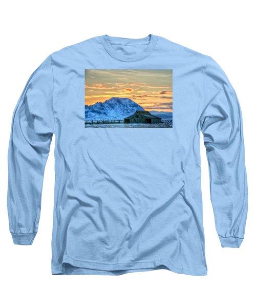 Old Barn Long Sleeve T-Shirt by Fiskr Larsen