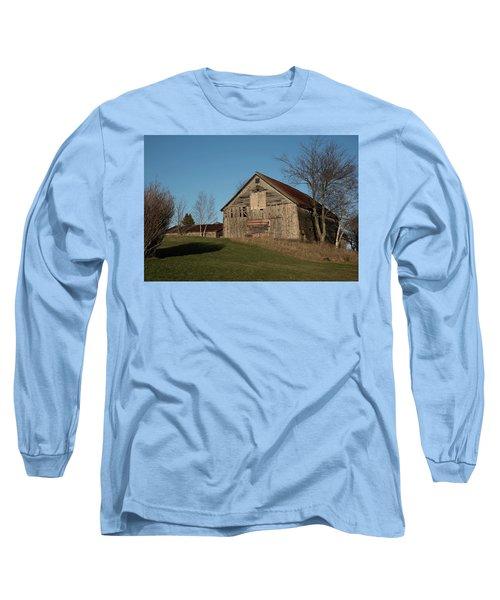 Old Barn On A Hill Long Sleeve T-Shirt