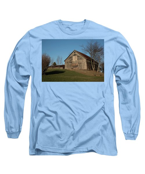 Old Barn On A Hill Long Sleeve T-Shirt