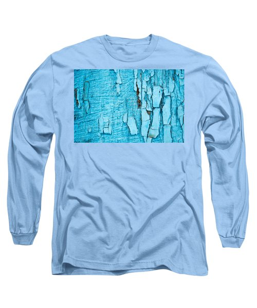 Long Sleeve T-Shirt featuring the photograph Old Blue Wood by John Williams