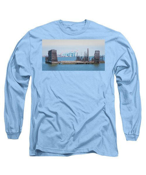 Old Dry Dock In Kill Van Kull Long Sleeve T-Shirt