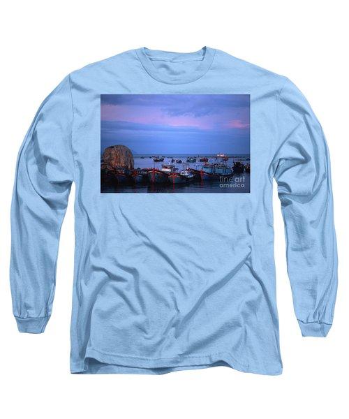 Old Port Of Nha Trang In Vietnam Long Sleeve T-Shirt